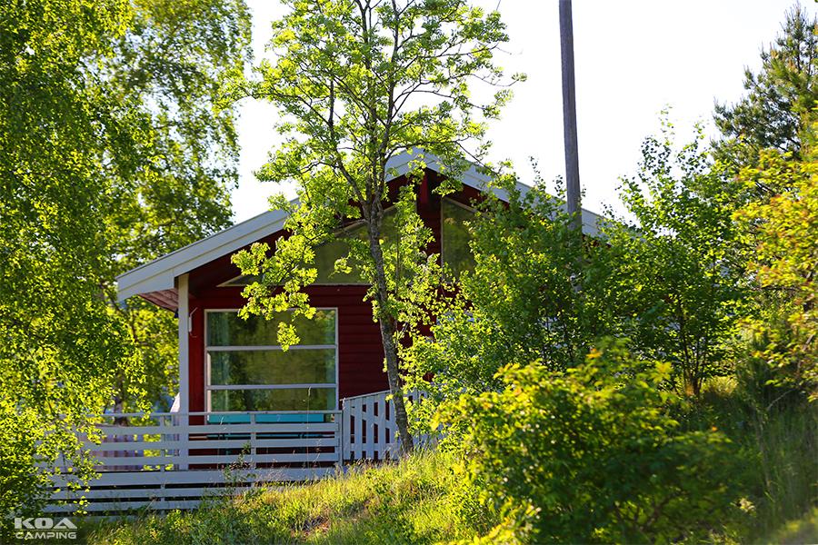"""""""Hilmach"""", vår største hytte. Denne kan leies for opphold fra minst 4 døgn varighet."""